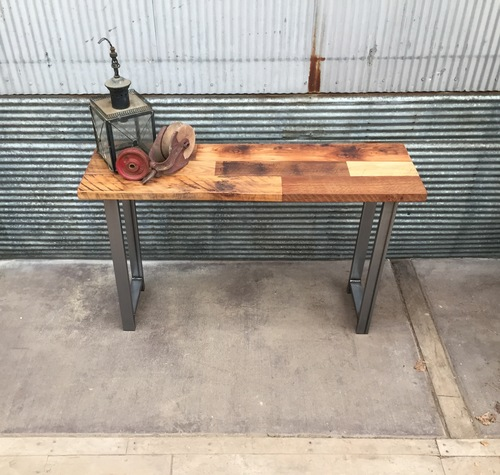 reclaimed wood console table overstock patchwork timber etsy diy