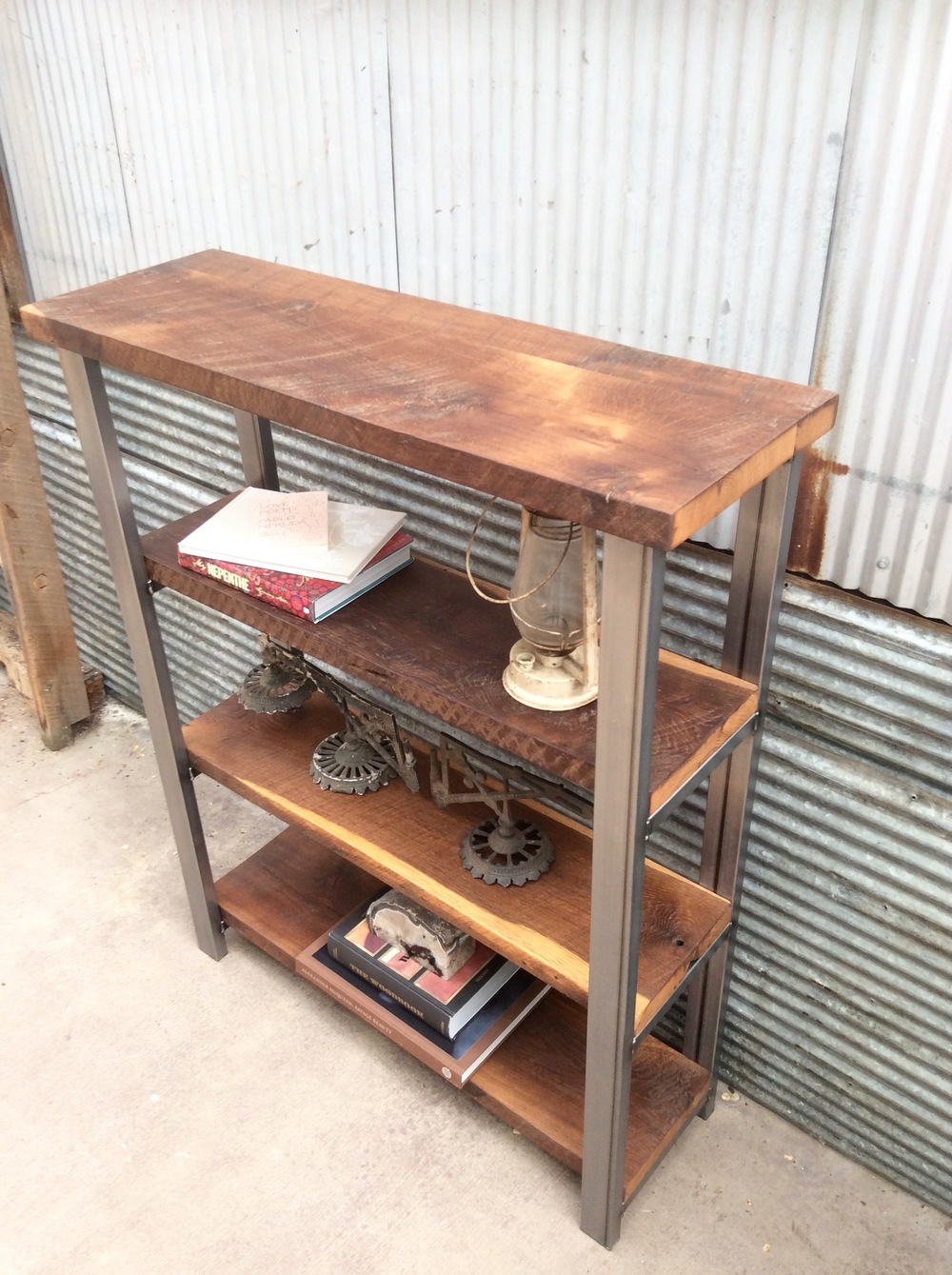 Reclaimed Wood Open Shelving Unit WHAT WE MAKE