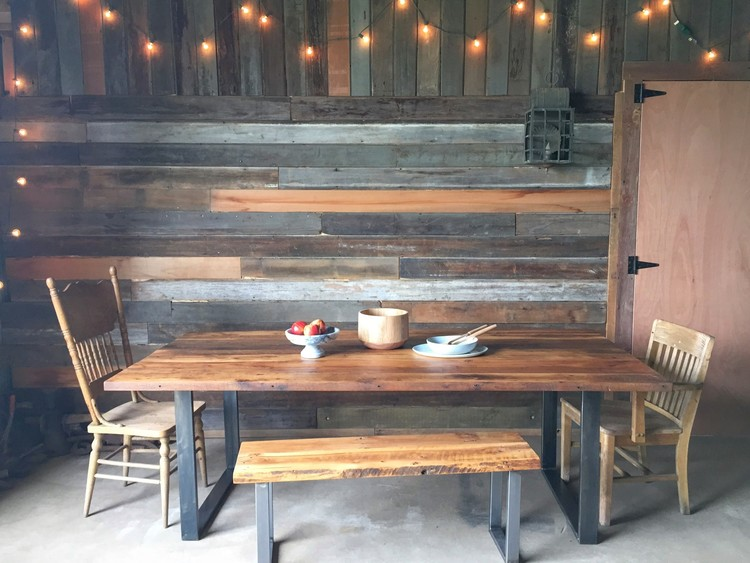 Industrial Modern Dining Table / U-Shaped Metal Legs - Industrial Modern Dining Table / U-Shaped Metal Legs - WHAT WE MAKE