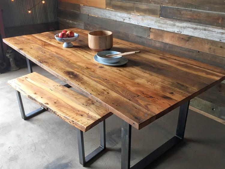 Industrial Modern Dining Table / U-Shaped Metal Legs. from 1,045.00. Wood:  Reclaimed Hardwoods - Industrial Modern Dining Table / U-Shaped Metal Legs - WHAT WE MAKE