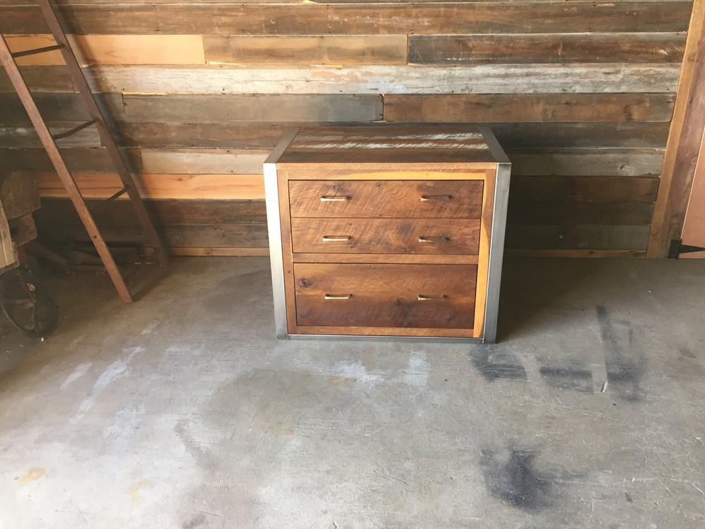 Charmant Reclaimed Wood File Cabinet