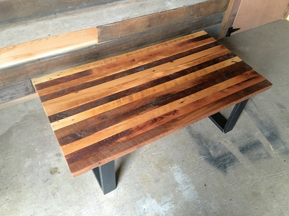 reclaimed wood butcher block coffee table what we make