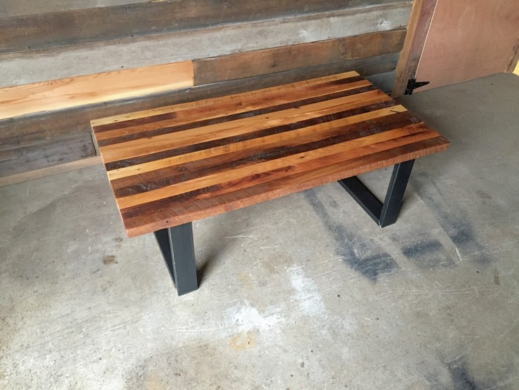 Reclaimed Wood Butcher Block Coffee Table. Reclaimed Wood Butcher Block Coffee Table   WHAT WE MAKE