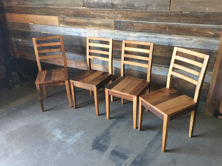 Farmhouse Dining Chair Made From Reclaimed Wood