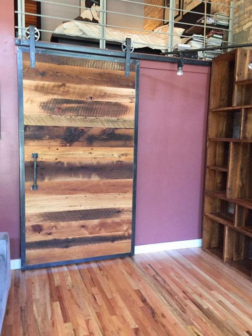 Industrial Reclaimed Barn Wood Sliding Door Whardware What We Make