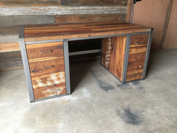 Reclaimed Wood Office Furniture - Barn Wood Office Furniture