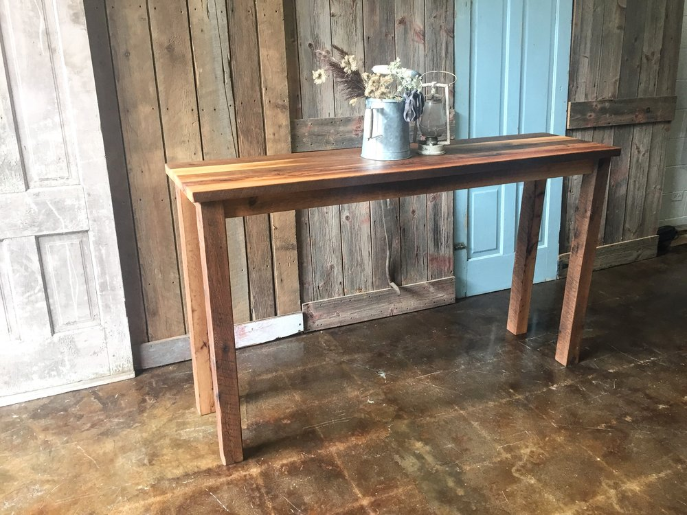 Farmhouse Reclaimed Wood Console Table