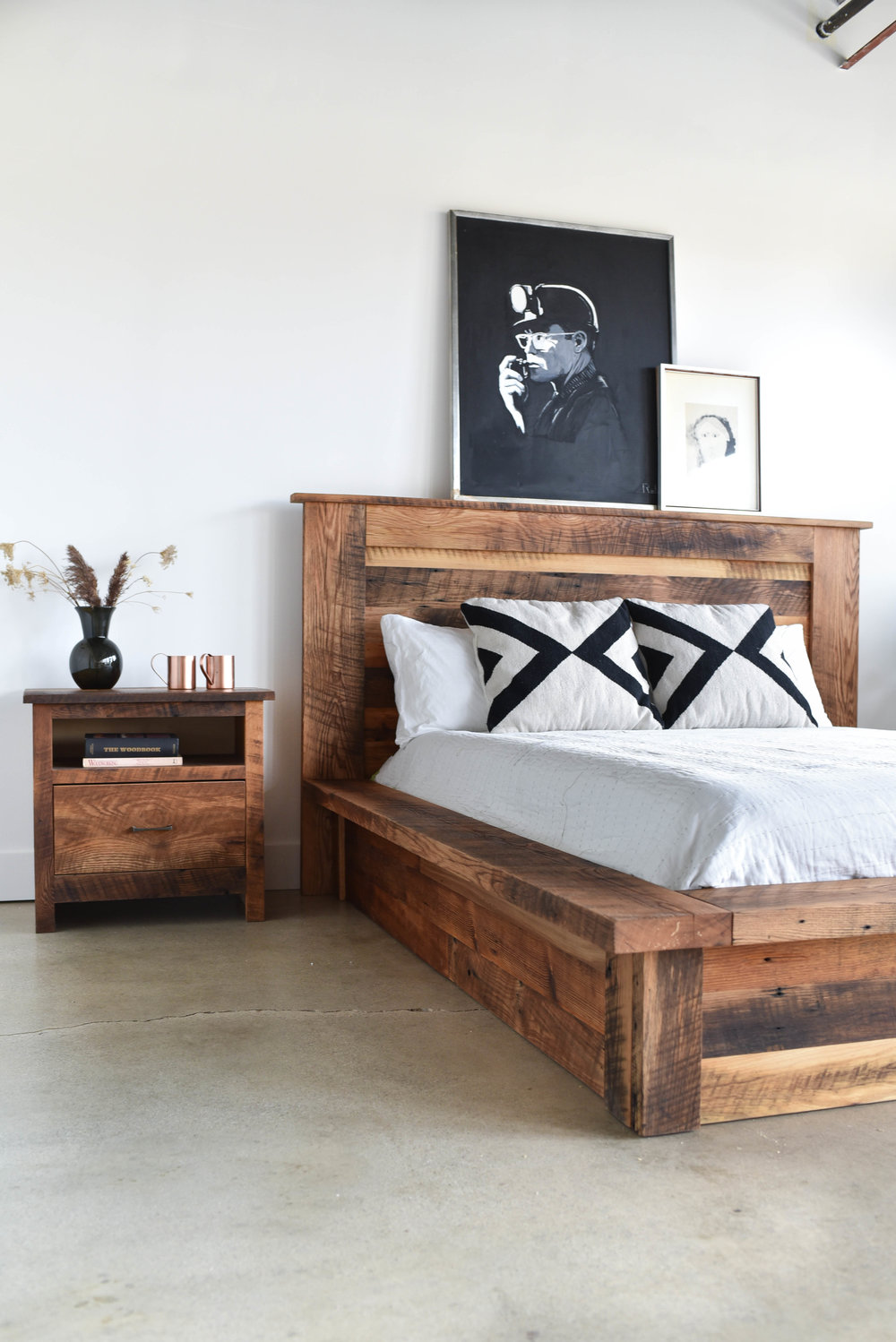 Reclaimed Wood Platform Bed What We Make