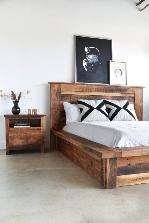 Reclaimed Wood Platform Bed - WHAT WE MAKE
