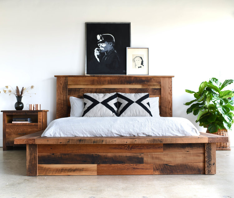 reclaimed wood platform bed - what we make