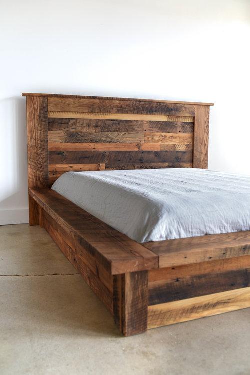 Reclaimed Wood Platform Bed - Reclaimed Wood Platform Bed - WHAT WE MAKE