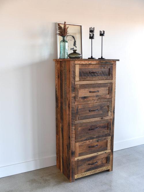 Relatively Tall Wood Dresser / 6-Drawer Reclaimed Wood Dresser - WHAT WE MAKE BI01