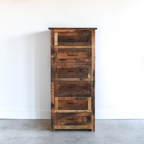 Tall Wood Dresser / 6-Drawer Reclaimed Wood Dresser - Tall Wood Dresser / 6-Drawer Reclaimed Wood Dresser - WHAT WE MAKE