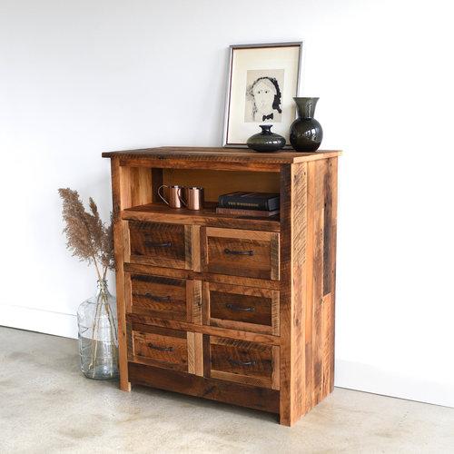 Small Reclaimed Wood Dresser / 6 - 15