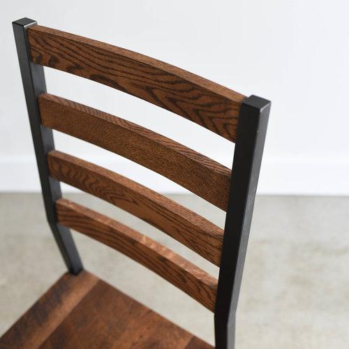 industrial reclaimed wood furniture. industrial steel reclaimed wood dining chair furniture
