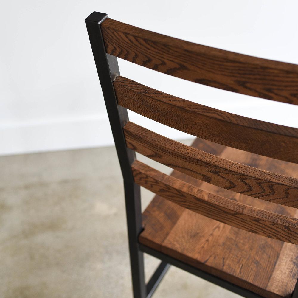 Industrial Steel + Reclaimed Wood Dining Chair