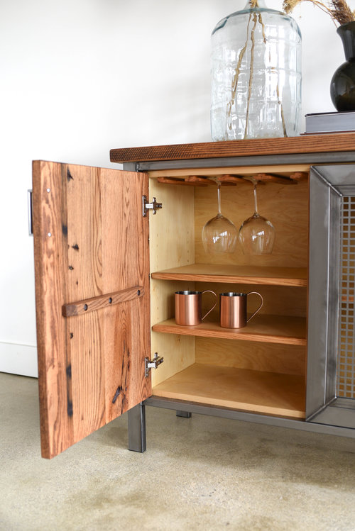 Sideboard Industrial industrial modern storage buffet what we