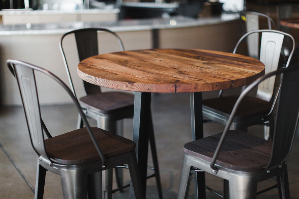Reclaimed wood furniture handmade barn wood furniture for American cuisine restaurants near me
