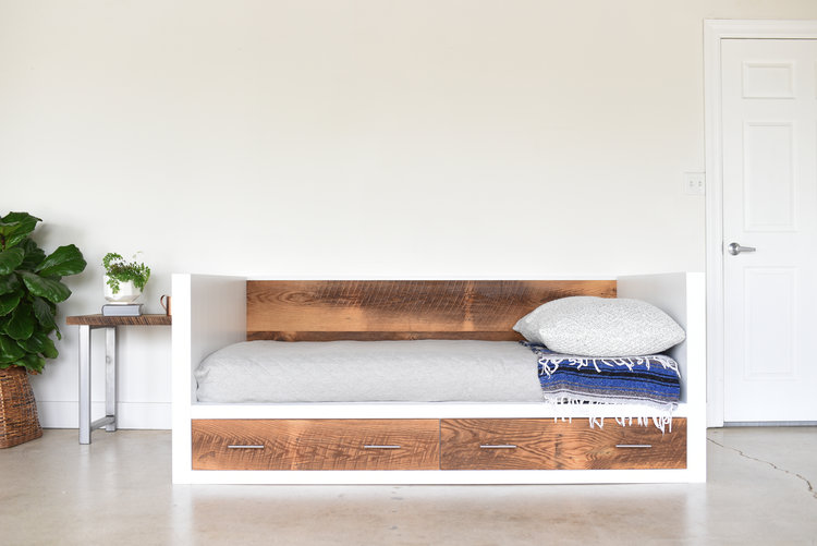 White + Reclaimed Wood Daybed - White + Reclaimed Wood Daybed - WHAT WE MAKE