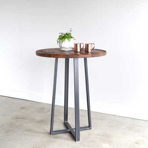industrial reclaimed wood furniture. round industrial reclaimed wood pub table 42 furniture t