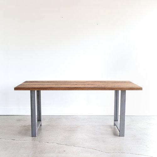 Fresh Industrial Modern Dining Table / H-Shaped Metal Legs - WHAT WE MAKE TK24