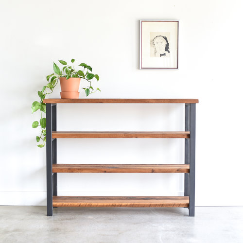 listing bookcase shelves reclaimed il wood bookshelf