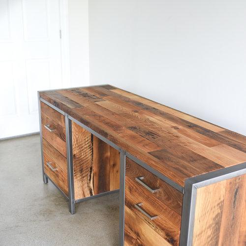 Industrial Modern Desk 5 Drawer