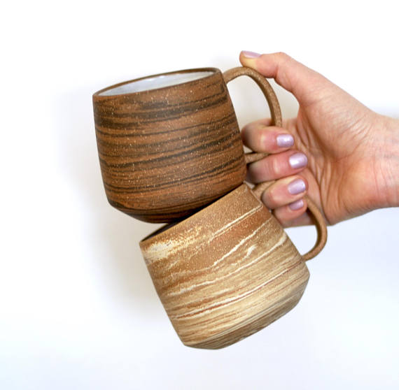6. MARBLED CLAY MUGS