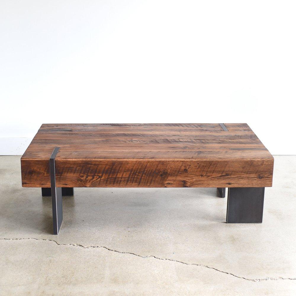 Large Modern Reclaimed Wood Coffee Table. Modern Coffee