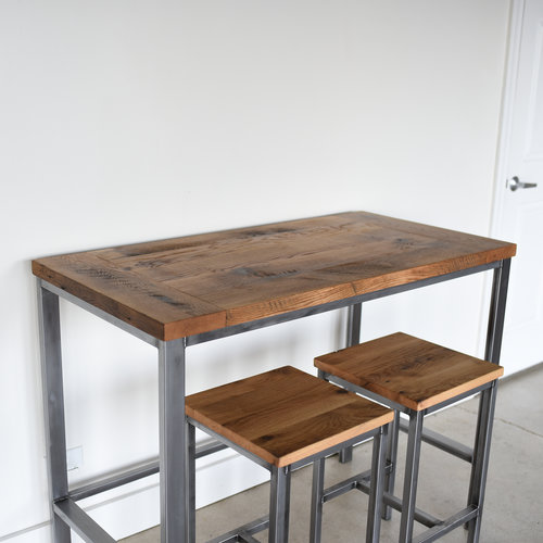 Counter Height Reclaimed Wood Kitchen Table Pub Table What We Make