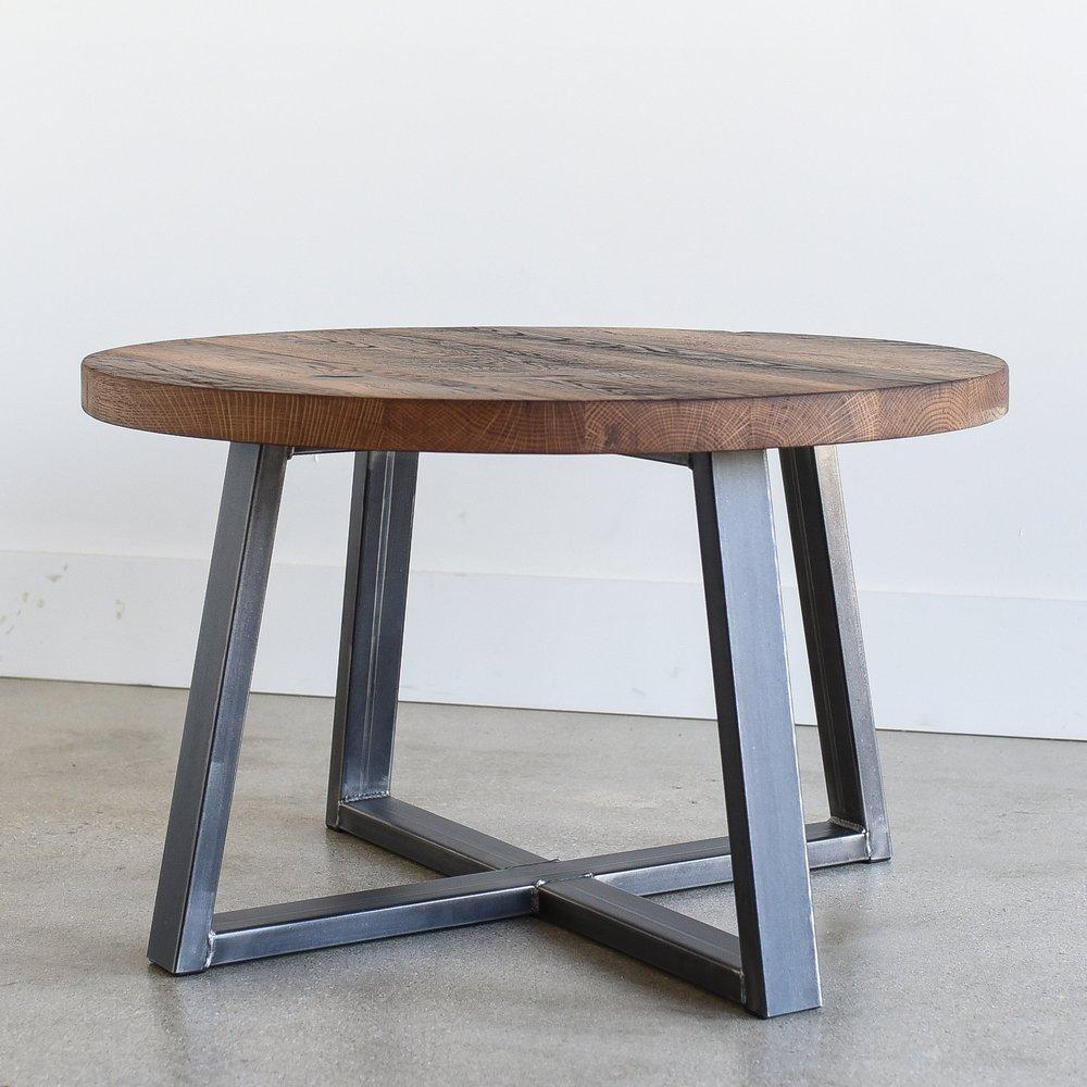 Beau Round Reclaimed Wood Coffee Table
