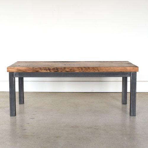 Industrial Steel Frame Coffee Table / 2\