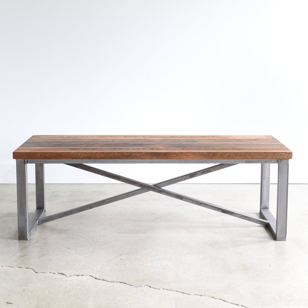 Delicieux X Frame Reclaimed Wood Coffee Table