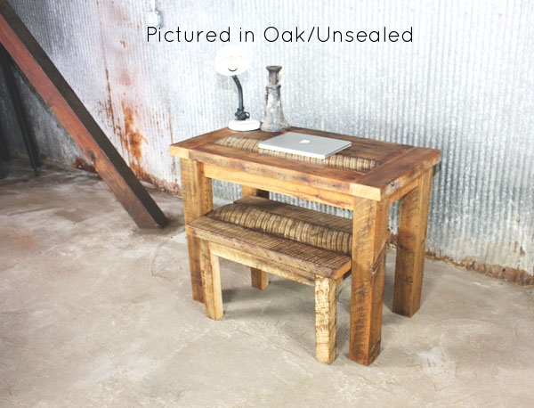 reclaimed barn wood desk industrial modern coffee table for