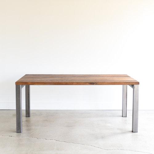 Modern Industrial Reclaimed Dining Table 3x 3 Metal Legs What