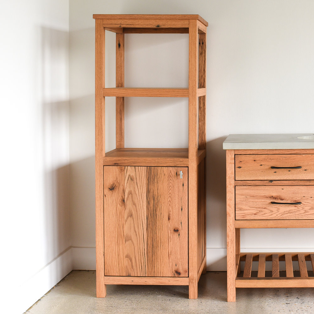 reclaimed wood bathroom storage cabinet what we make rh wwmake com Accent Wood Cabinet Traditional DYI Bathroom Storage Cabinet Wood