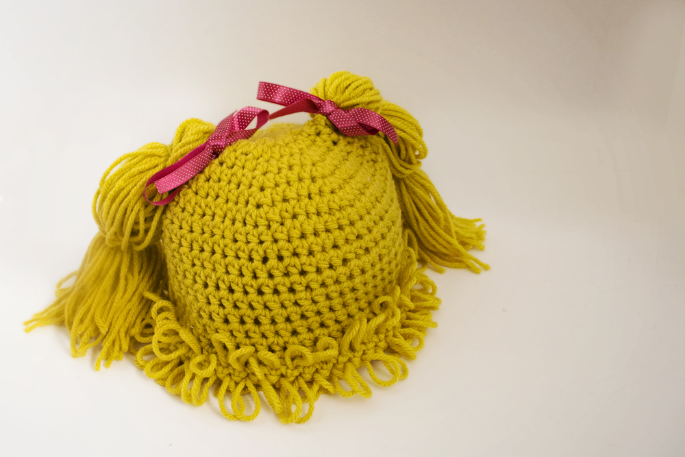 Cabbage Patch Knit Hat With Fringe And Pigtails Pattern : Cabbage Patch Inspired Pigtail Hats & Patterns - Jenn Likes Yarn