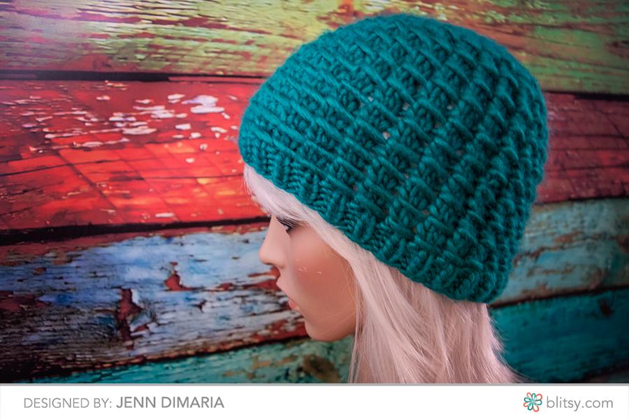 Waffle Stitch Knit Hat Pattern : Free Knitting Pattern: Winter Waffle Hat - Jenn Likes Yarn