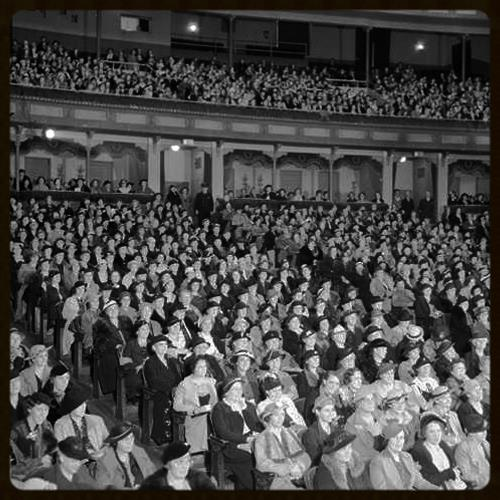 Denver Auditorium Theater audience comprised almost entirely of women, ca. 1920