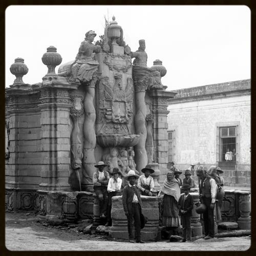 Fountain in Salto del Agua, Mexico, ca. 1880