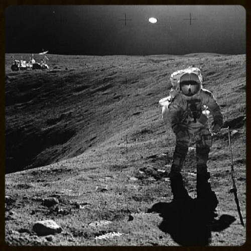 Astronaut Charles M. Duke Jr. on Apollo 16 mission, 1972