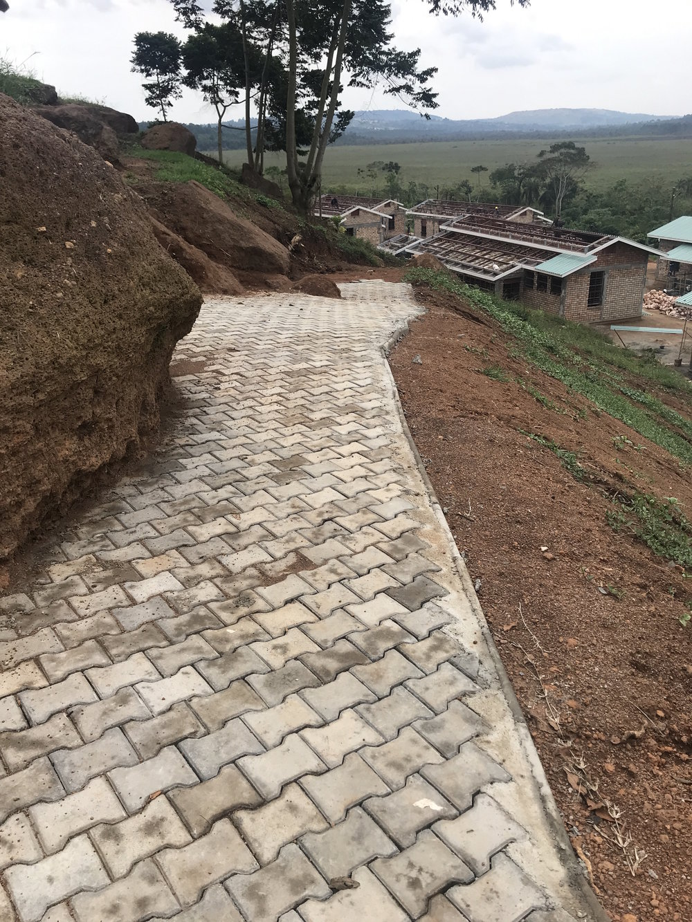 Walk way from God's House to quads - handmade pavers