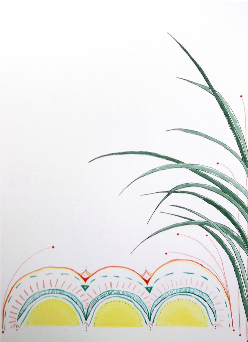 circus palm \\ 11x15 mixed media on paper  #mysortofgreenthumb   >> S H O P <<