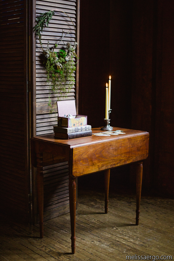 Photo credit: Melissa Ergo Photography Vintage furniture provided by Dogwood Party Rentals