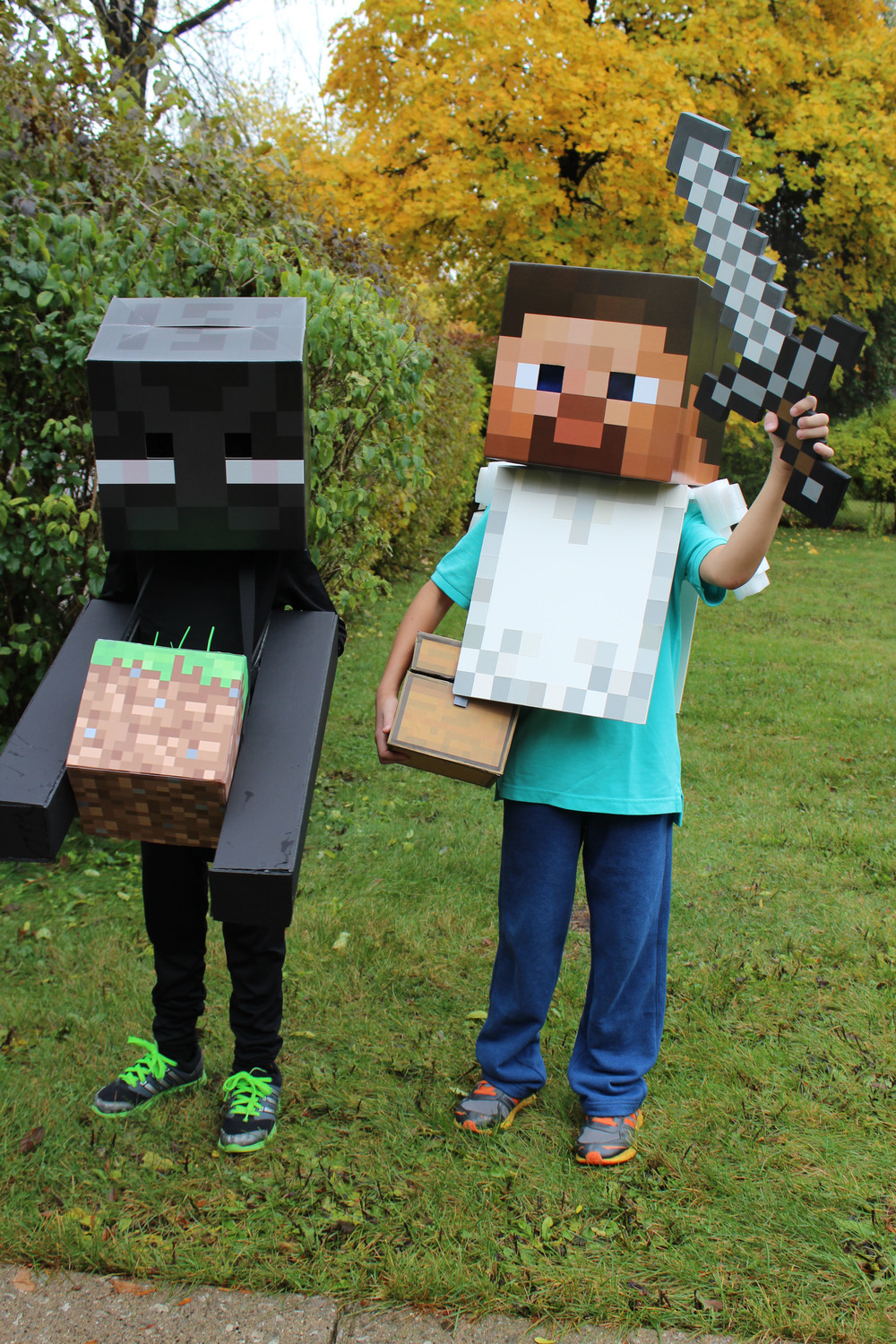 Enderman & Steve from Minecraft