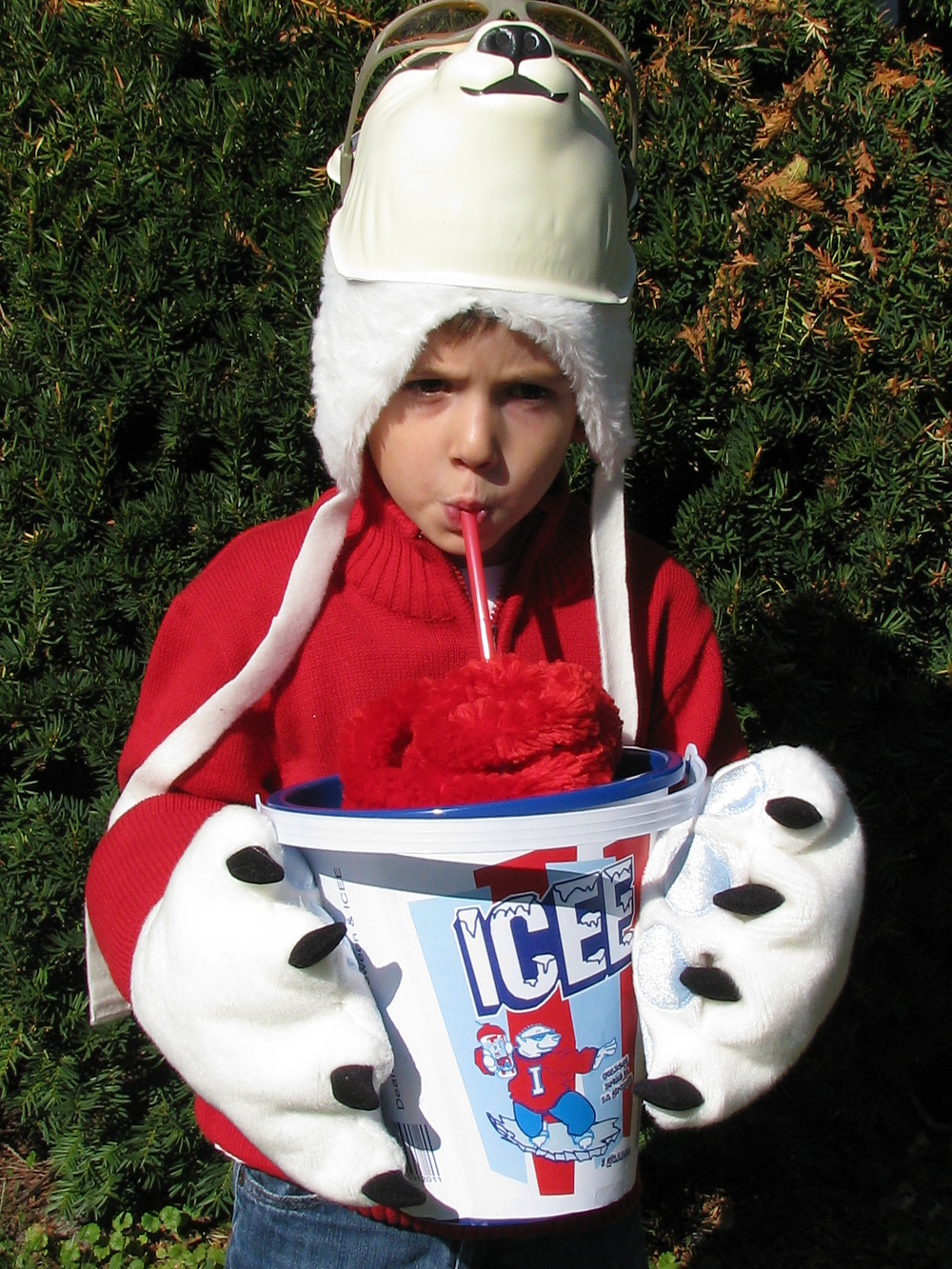 Icee with is custom Trick or Treat bag