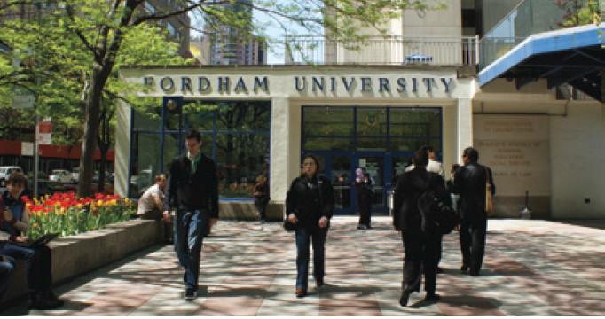 Campus da Fordham, localizado ao lado do Lincoln Center.