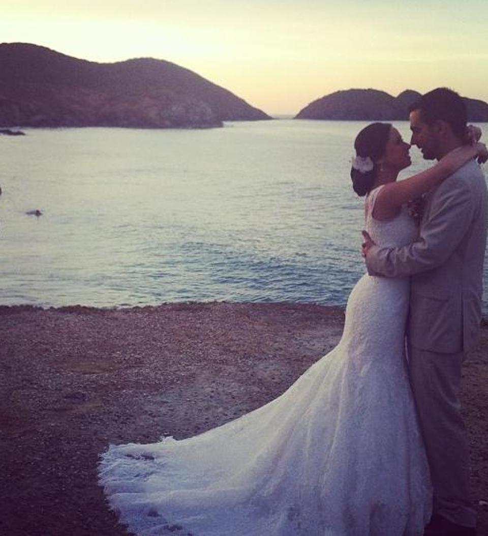 O casamento, na Ilha Margarita, na Venezuela, em dezembro de 2013.