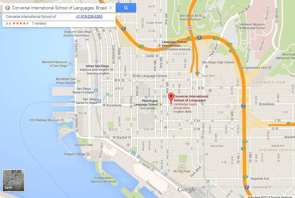 Clique no mapa para o Street View