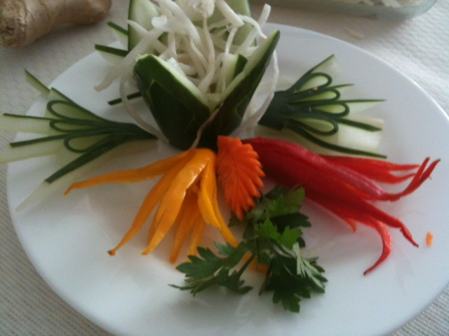 asian food garnishes